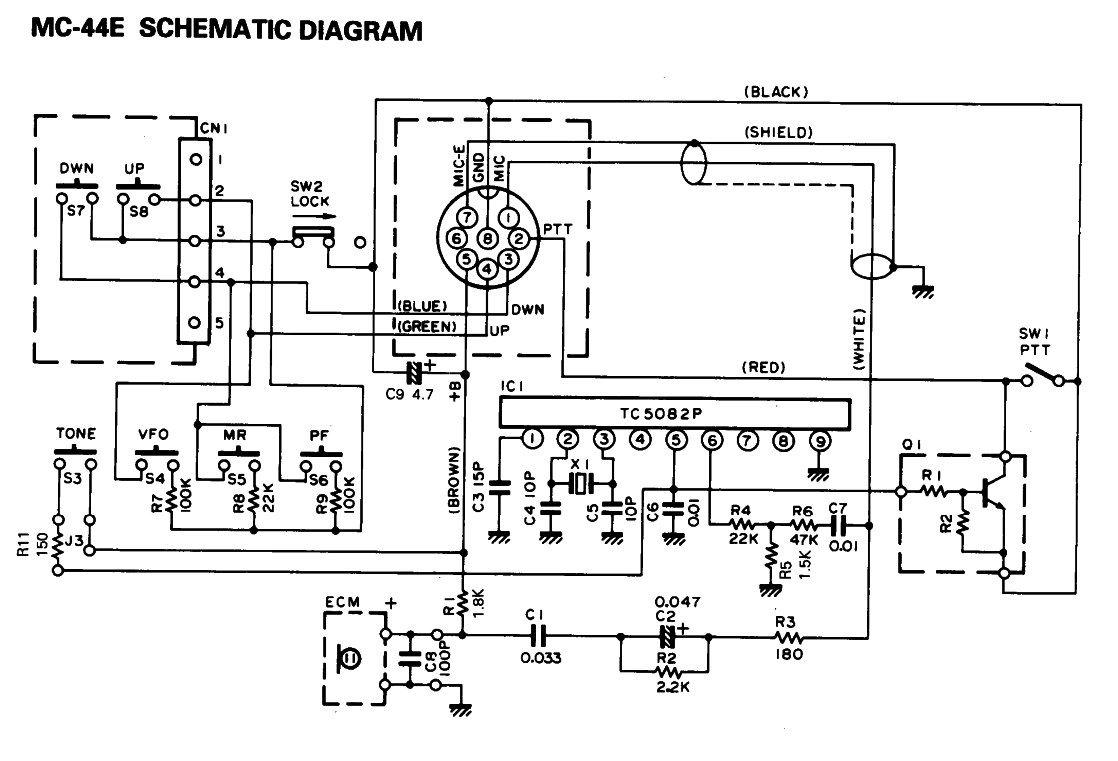 Mc 44 Multi Function Microphone Schematic Wiring Diagram Gnrateur 1750hz Pour Micro Kenwood Mc44 Le Blog De Stphane 44e
